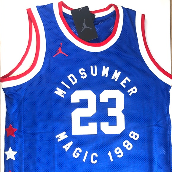 info for 4b6f2 ff7c8 NWT Jordan 3 legacy midsummer magic 1988 Jersey NWT
